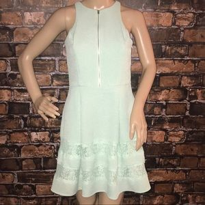 Express mini dress mint with pockets textured